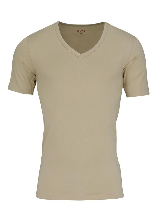 Basic T-shirt - creme - beige