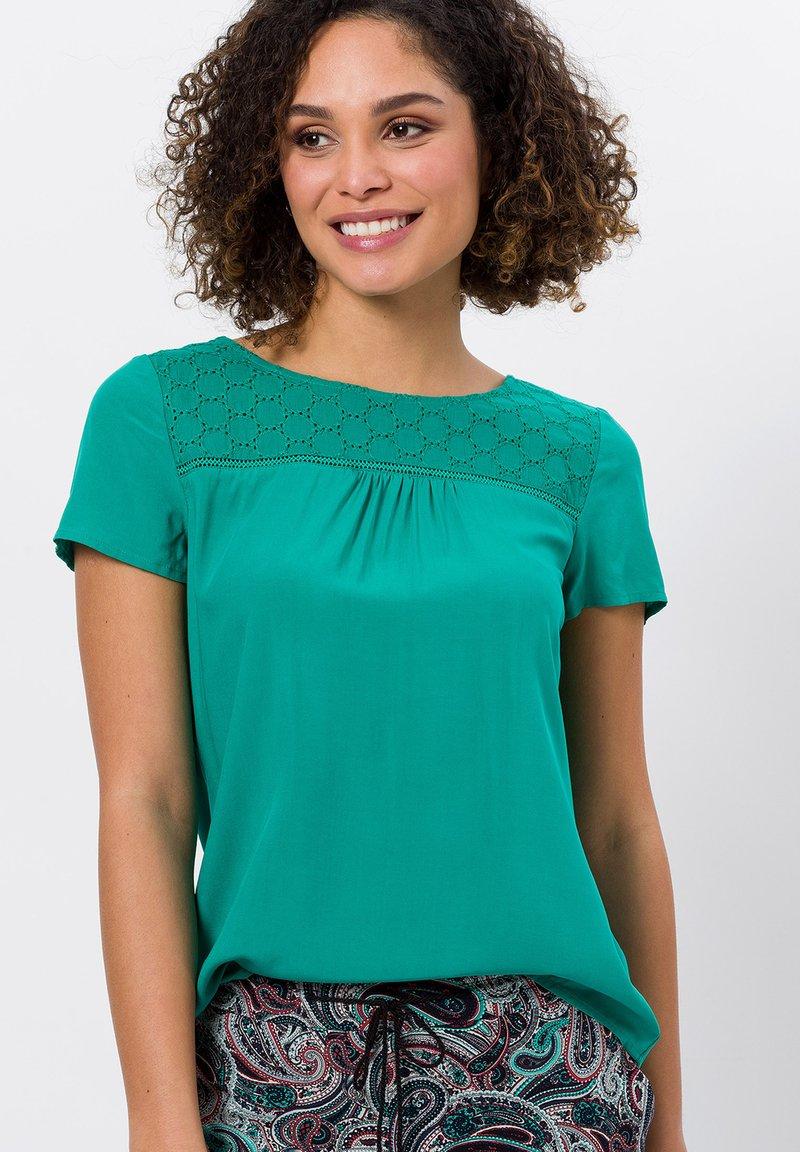 zero - Blouse - emerald green