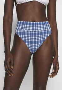 aerie - HI CUT CHEEKY PLAID - Bikini bottoms - jeweled blue - 0