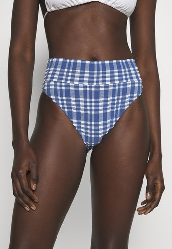 HI CUT CHEEKY PLAID - Bikini bottoms - jeweled blue