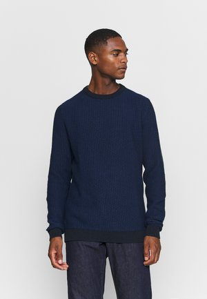 SLHAIDEN CREW NECK - Jumper - estate blue/dark sapphire