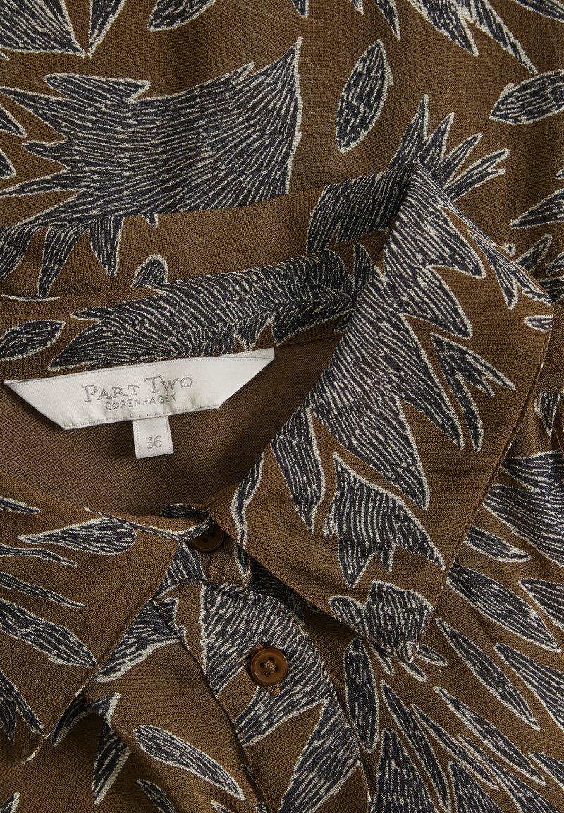 Part Two ESMAPW - Hemdbluse - zig zag print, hazel brown/braun CYWoxJ