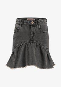 Vingino - MINI ROCK DAGMAR - Denim skirt - grey vintage - 0