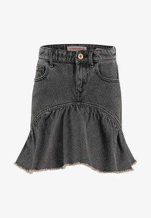 MINI ROCK DAGMAR - Denim skirt - grey vintage