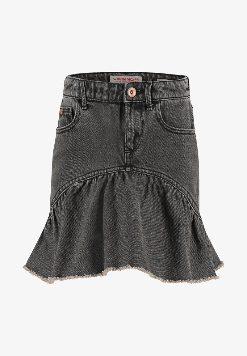 Vingino - MINI ROCK DAGMAR - Denim skirt - grey vintage