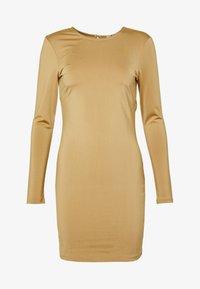 OPEN BACK DETAIL DRESS - Jersey dress - dark beige