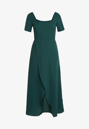 SLEEVE WRAP TIE FRONT DRESS - Day dress - emerald green