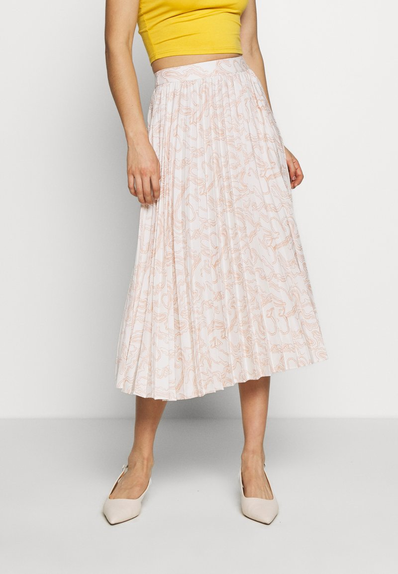 Glamorous - PRINTED MIDI SKIRT - A-Linien-Rock - nude