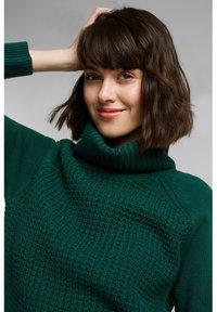 edc by Esprit - COWL NECK - Jumper dress - dark teal green - 4