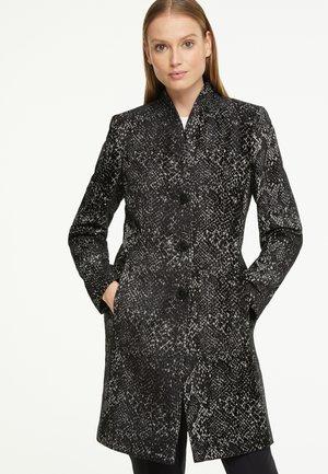 MANTEL - Classic coat - black snake woven