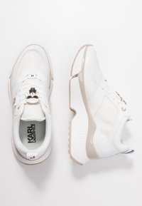 KARL LAGERFELD - AVENTUR LACE SHOE - Baskets basses - white - 3