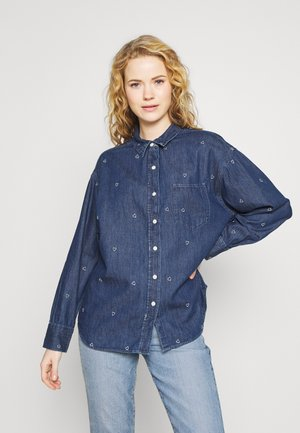 CARMEN HEART - Blouse - dark indigo
