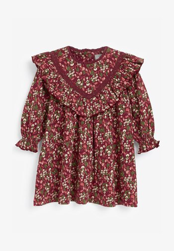 FLORAL FRILL - Day dress - red