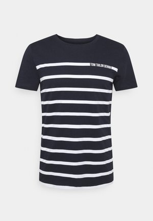STRIPE - T-shirt con stampa - sky captain blue