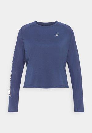 ASICS RUN LS TOP - Sports shirt - thunder blue/birch