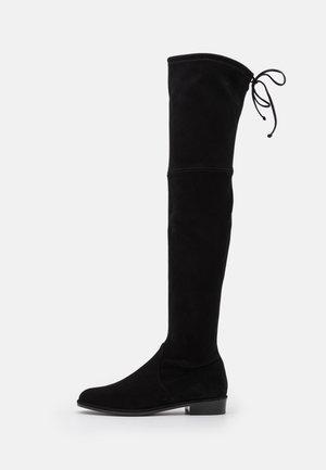 LOWLAND - Overknee laarzen - black