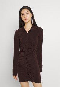 Gina Tricot - DOLLY DRESS - Jerseyklänning - coffee bean - 0