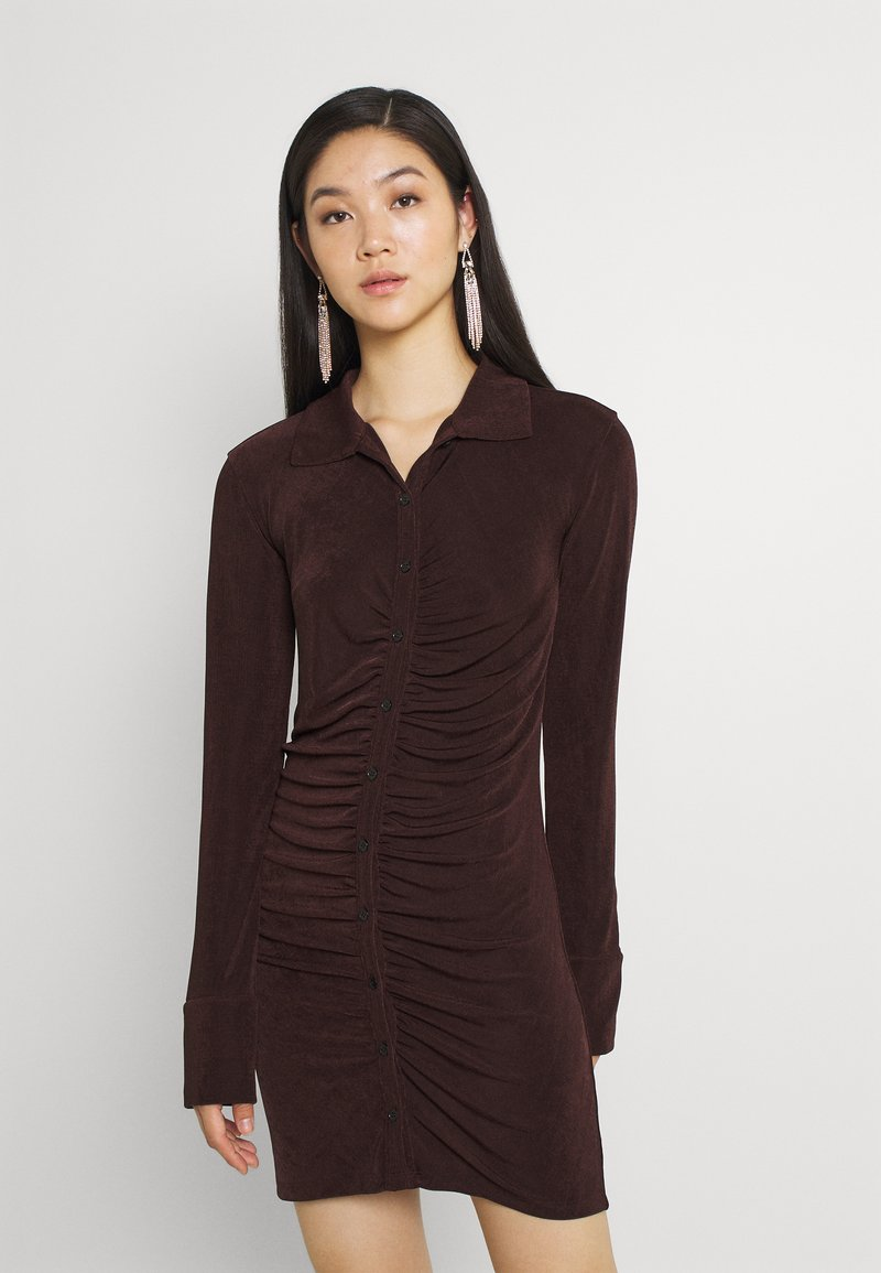 Gina Tricot - DOLLY DRESS - Jerseyklänning - coffee bean