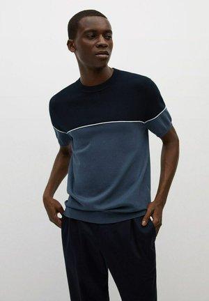 ARTHURT - Print T-shirt - azul petróleo
