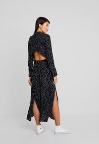 Topshop - OPEN BACK DRESS - Day dress - black/white - 3
