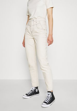 80S SEAMED MOM - Relaxed fit jeans - ecru