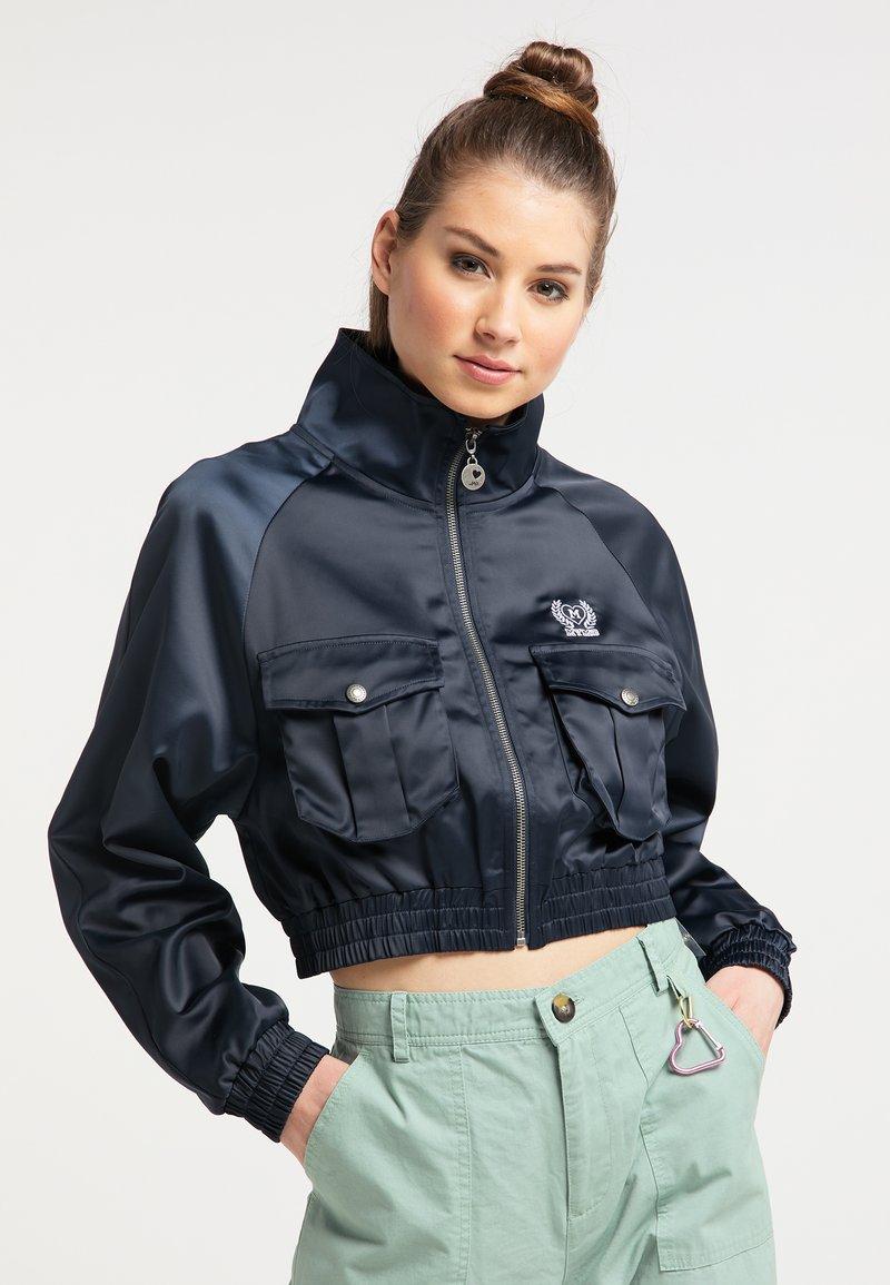 myMo - CROPPED - Light jacket - marine