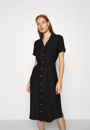 SHORT SLEEVE DRESS - Shirt dress - black