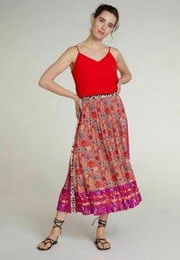 Oui - A-line skirt - red violett - 1