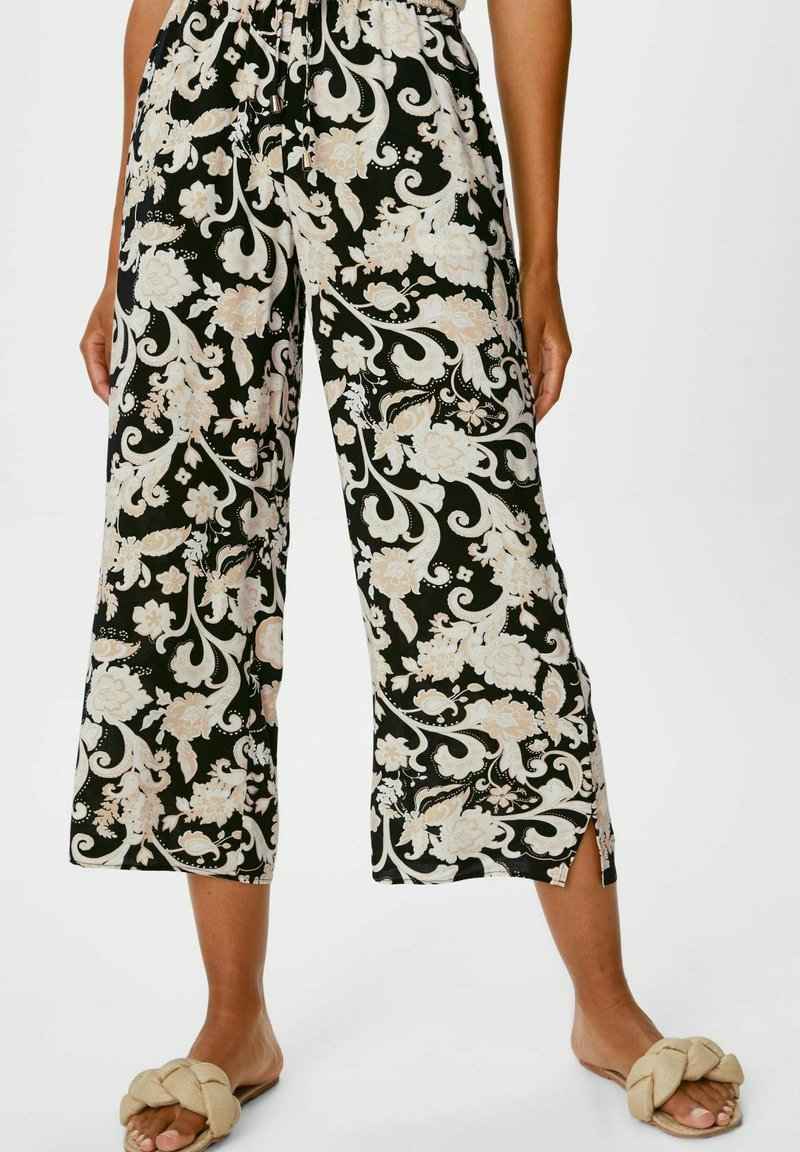 C&A - Trousers - black / beige