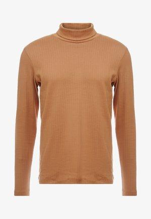 JPRLUTON LS TEE TURTLE NECK  - Maglietta a manica lunga - tobacco brown