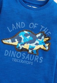 Next - DINO FLIPPY SEQUIN - Longsleeve - blue - 2