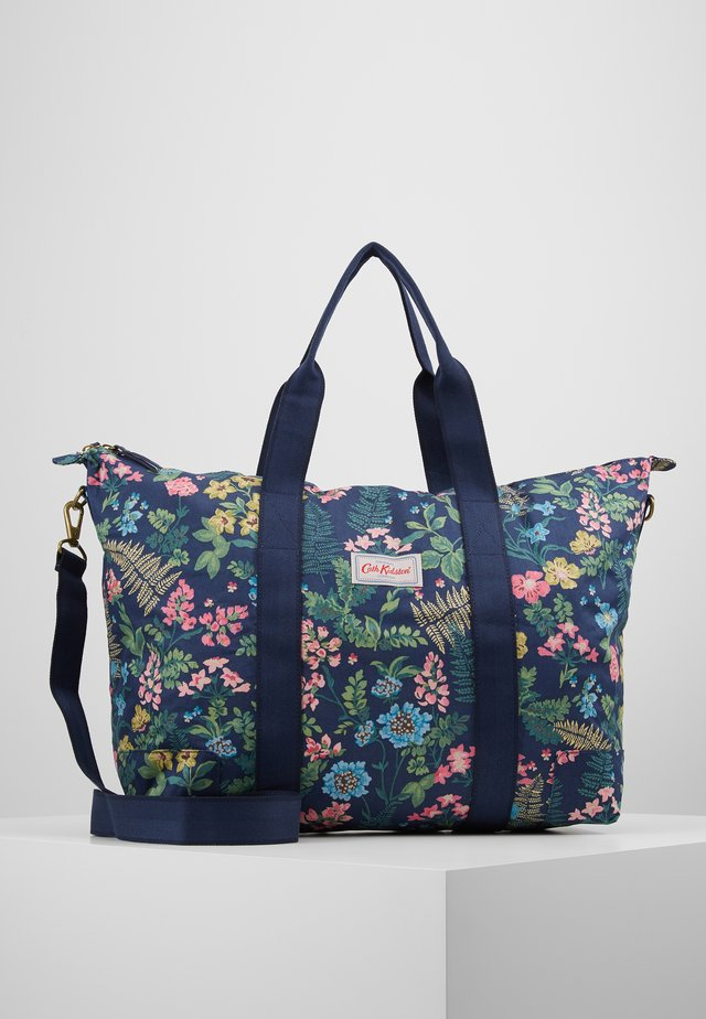 FOLDAWAY OVERNIGHT BAG - Tote bag - navy