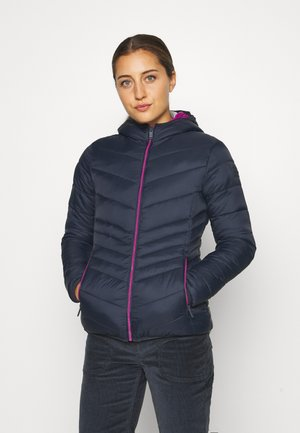 WOMAN JACKET FIX HOOD - Zimní bunda - black/blue