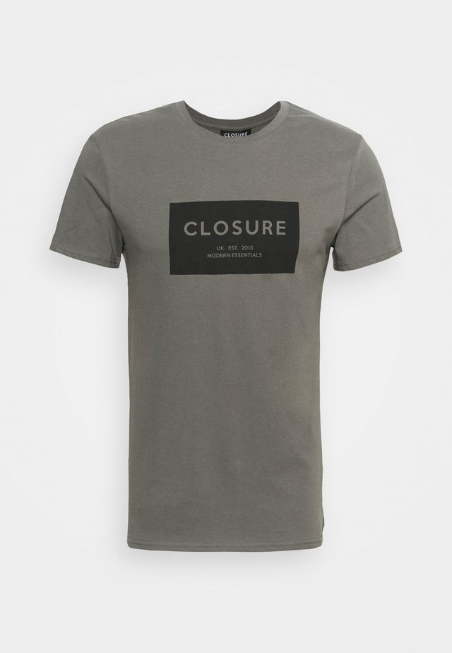 TONAL BOX LOGO TEE - T-shirt print - charcoal