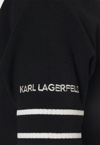 KARL LAGERFELD - FLAIR DRESS - Sukienka dzianinowa - black - 6