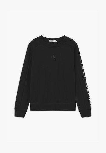 LOGO SLEEVE - Sweatshirt - black
