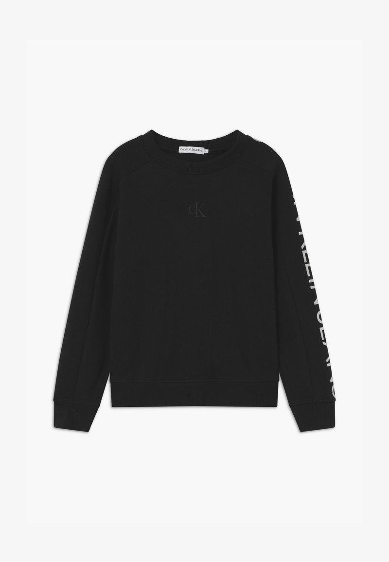 Calvin Klein Jeans - LOGO SLEEVE - Collegepaita - black