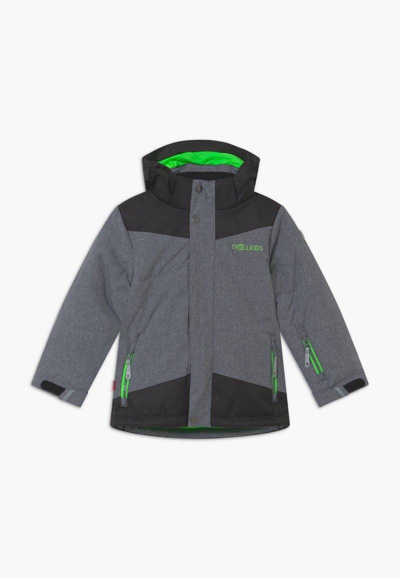 TrollKids - KIDS NOREFJELL  - Snowboardjacke - grey melange/bright green