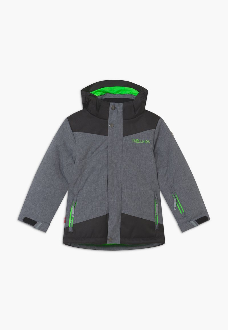 TrollKids - KIDS NOREFJELL  - Snowboard jacket - grey melange/bright green