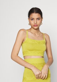Glamorous - CARE CROPPED CAMI - Top - olive green
