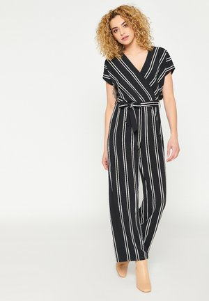 WITH STRIPES AND BELT - Jumpsuit - black