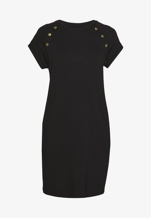 HURRICANE DRESS - Žerzejové šaty - black