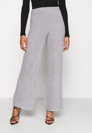 POPCORN WIDE LEG TROUSER - Broek - grey