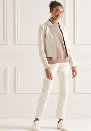 Leren jas - off white