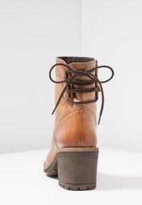 Pier One - Lace-up ankle boots - cognac - 5