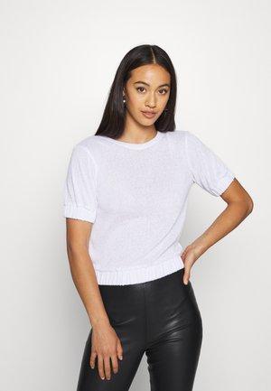 TERRY ELASTIC - Basic T-shirt - white
