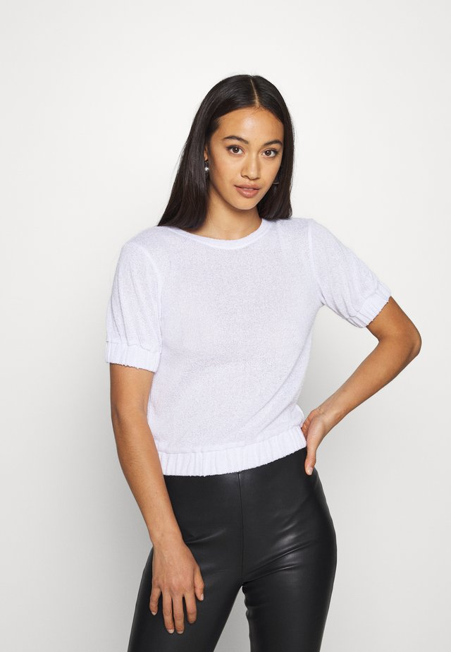TERRY ELASTIC - T-shirt basique - white