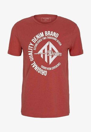 WITH COINPRINT - T-shirt print - normal red
