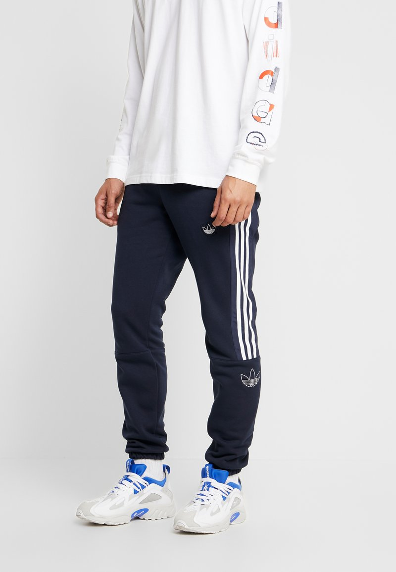 adidas Originals - OUTLINE REGULAR TRACK PANTS - Träningsbyxor - legend ink/white