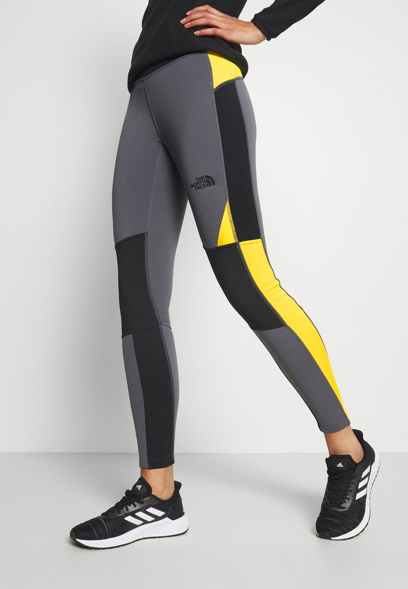 The North Face - STEEP TECH - Leggings - Trousers - vanadis grey/black/lightning yellow
